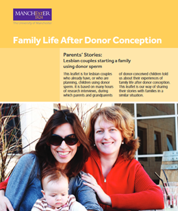 Family Life after Donor conception - Parents Stories - Lesbian couples