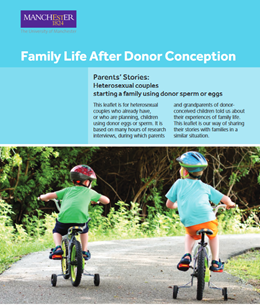 Family Life after Donor conception Parents stories - Heterosexual couples